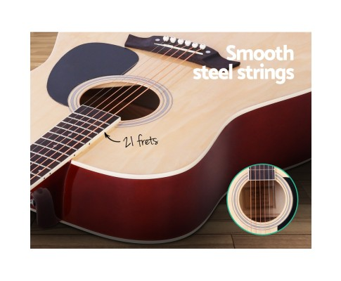 Acoustic Guitars Natural Wood